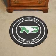 North Dakota Fighting Hawks Hockey Puck Mat