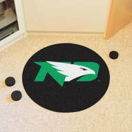 North Dakota Fighting Hawks Hockey Puck Mat