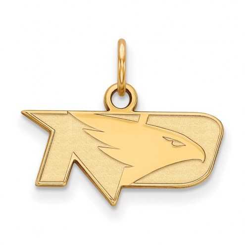 North Dakota Fighting Hawks NCAA Sterling Silver Gold Plated Extra Small Pendant