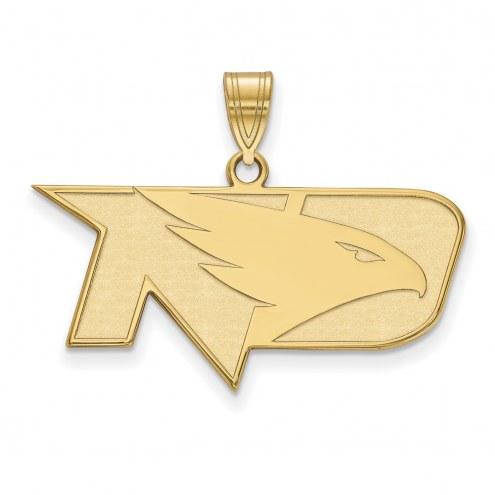 North Dakota Fighting Hawks NCAA Sterling Silver Gold Plated Medium Pendant