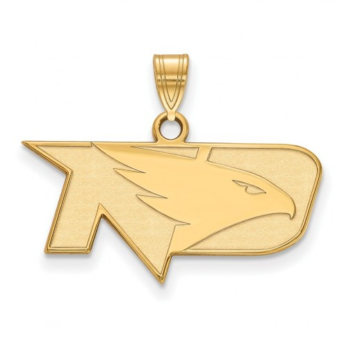 North Dakota Fighting Hawks NCAA Sterling Silver Gold Plated Small Pendant