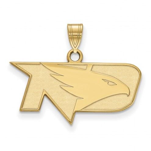 North Dakota Fighting Hawks NCAA Sterling Silver Gold Plated Small Pendant