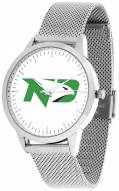 North Dakota Fighting Hawks Silver Mesh Statement Watch
