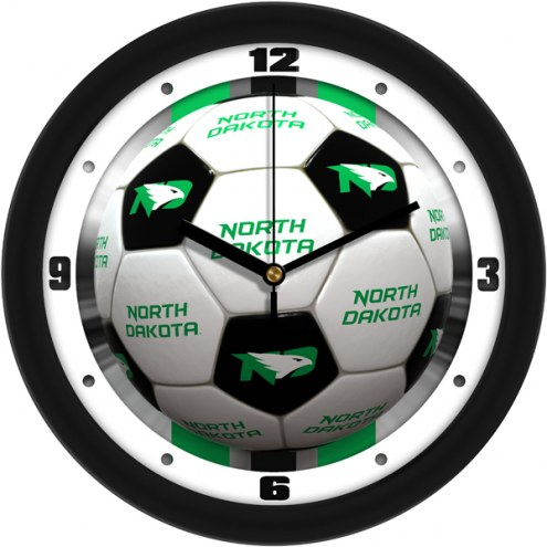 North Dakota Fighting Hawks Soccer Wall Clock