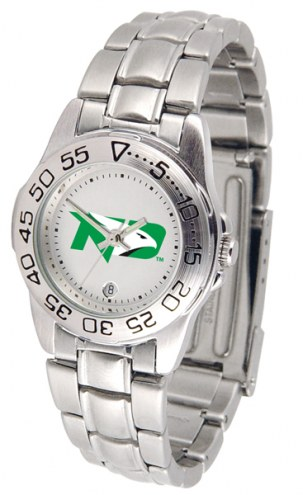 North Dakota Fighting Hawks Sport Steel Women's Watch