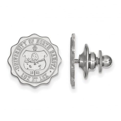 North Dakota Fighting Hawks Sterling Silver Crest Lapel Pin
