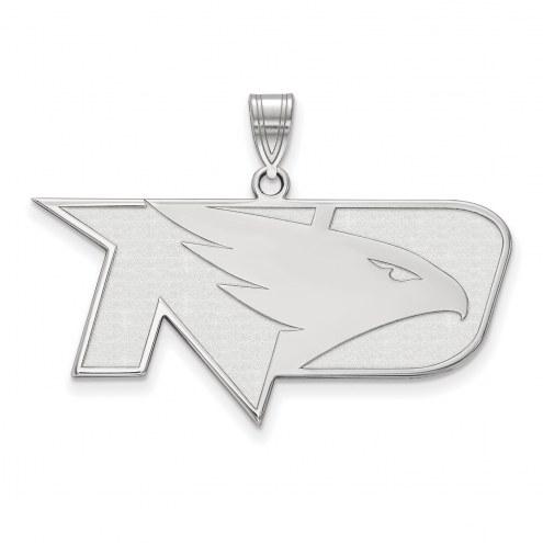 North Dakota Fighting Hawks Sterling Silver Large Pendant