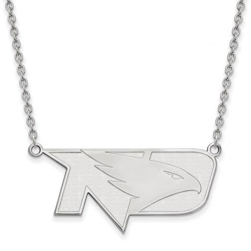 North Dakota Fighting Hawks Sterling Silver Large Pendant Necklace