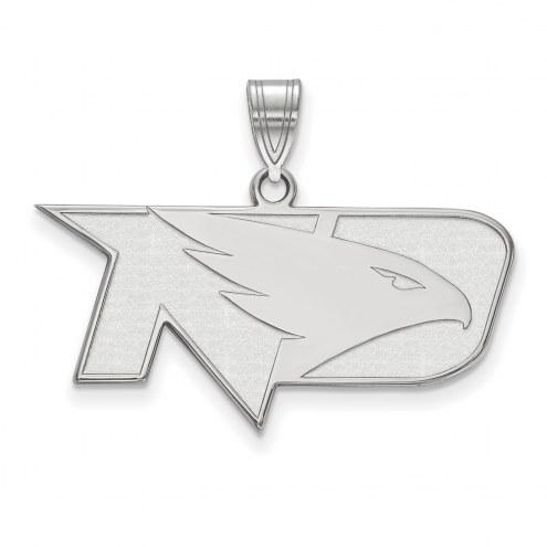 North Dakota Fighting Hawks Sterling Silver Medium Pendant