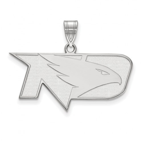 North Dakota Fighting Hawks Sterling Silver Medium Pendant