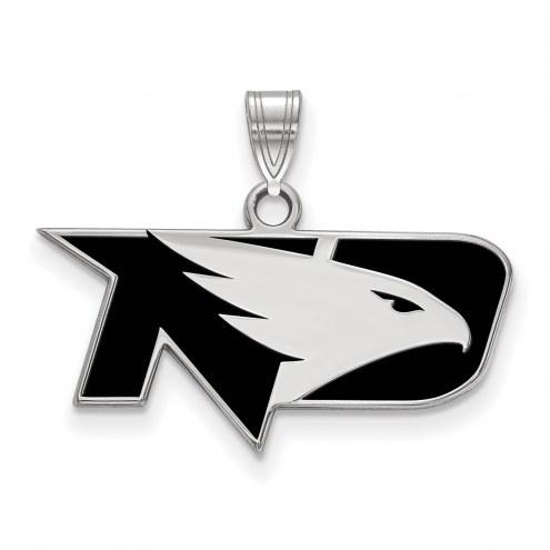 North Dakota Fighting Hawks Sterling Silver Small Enamel Pendant