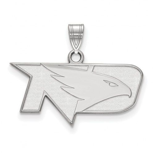 North Dakota Fighting Hawks Sterling Silver Small Pendant