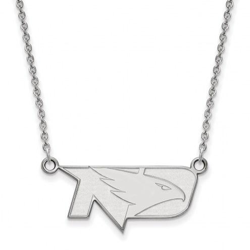 North Dakota Fighting Hawks Sterling Silver Small Pendant Necklace