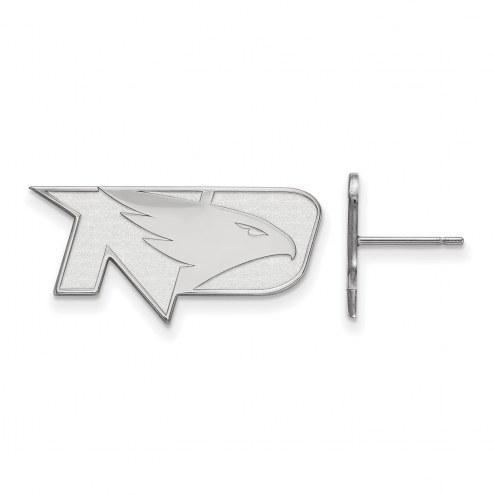 North Dakota Fighting Hawks Sterling Silver Small Post Earrings