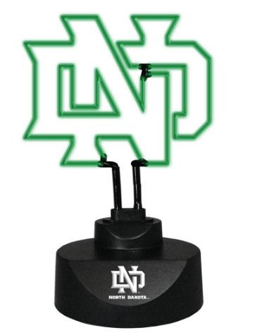 North Dakota Fighting Hawks Team Logo Neon Lamp