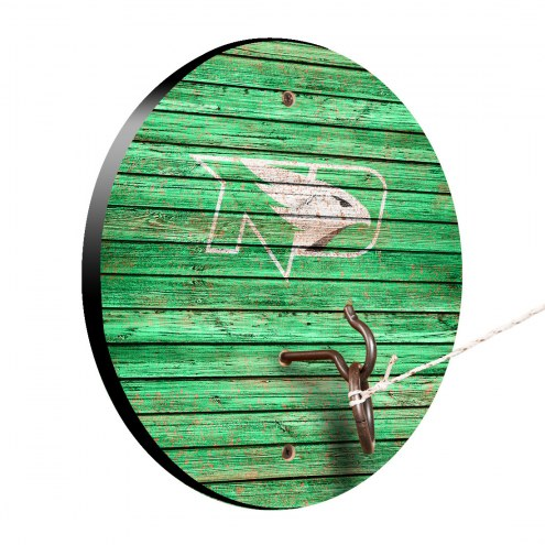 North Dakota Fighting Hawks Weathered Design Hook & Ring Game