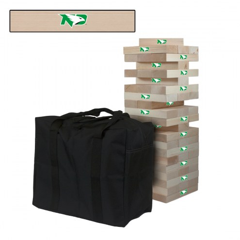 North Dakota Fighting Sioux Giant Wooden Tumble Tower Game