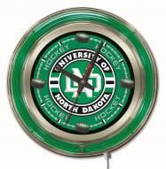University of North Dakota Hockey Neon Clock