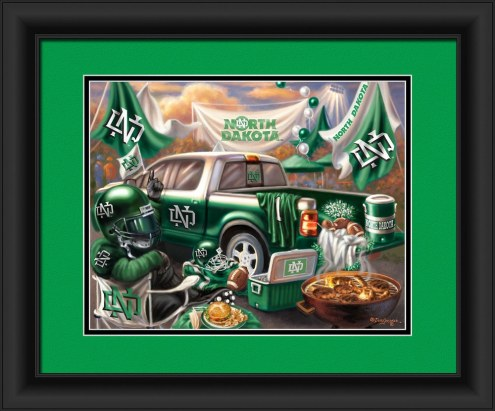 North Dakota Fighting Sioux Tailgate Framed Print