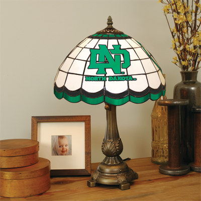North Dakota Fighting Sioux Tiffany Table Lamp