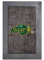 """North Dakota State Bison 11"""" x 19"""" City Map Framed Sign"""