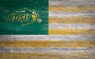 "North Dakota State Bison 11"" x 19"" Distressed Flag Sign"