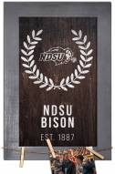 "North Dakota State Bison 11"" x 19"" Laurel Wreath Framed Sign"