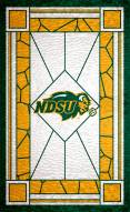 """North Dakota State Bison 11"""" x 19"""" Stained Glass Sign"""