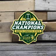"North Dakota State Bison 12"" 2014 Champs Steel Logo Sign"