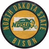 "North Dakota State Bison 12"" Circle with State Sign"