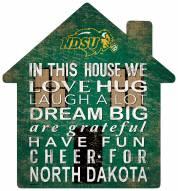 "North Dakota State Bison 12"" House Sign"