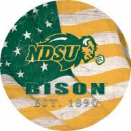 """North Dakota State Bison 12"""" Team Color Flag Circle Sign"""