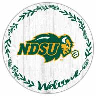 "North Dakota State Bison 12"" Welcome Circle Sign"