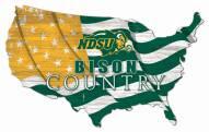 "North Dakota State Bison 15"" USA Flag Cutout Sign"