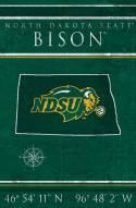 "North Dakota State Bison 17"" x 26"" Coordinates Sign"