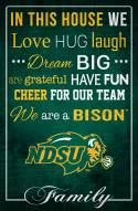 """North Dakota State Bison 17"""" x 26"""" In This House Sign"""