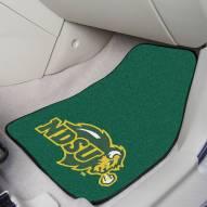 North Dakota State Bison 2-Piece Carpet Car Mats