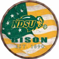 "North Dakota State Bison 24"" Flag Barrel Top"