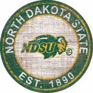 "North Dakota State Bison 24"" Heritage Logo Round Sign"