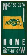 "North Dakota State Bison 6"" x 12"" Coordinates Sign"