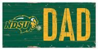 "North Dakota State Bison 6"" x 12"" Dad Sign"