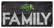 "North Dakota State Bison 6"" x 12"" Family Sign"