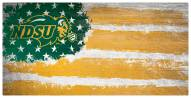 "North Dakota State Bison 6"" x 12"" Flag Sign"