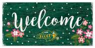 "North Dakota State Bison 6"" x 12"" Floral Welcome Sign"