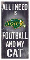 "North Dakota State Bison 6"" x 12"" Football & My Cat Sign"