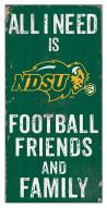 "North Dakota State Bison 6"" x 12"" Friends & Family Sign"