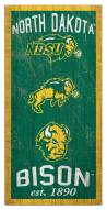 "North Dakota State Bison 6"" x 12"" Heritage Sign"