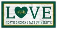 "North Dakota State Bison 6"" x 12"" Love Sign"
