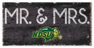 "North Dakota State Bison 6"" x 12"" Mr. & Mrs. Sign"