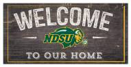 "North Dakota State Bison 6"" x 12"" Welcome Sign"